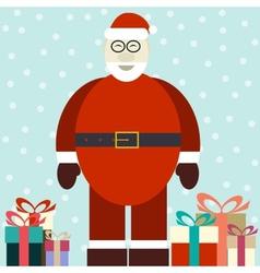 Flat of smiling Santa Claus vector image