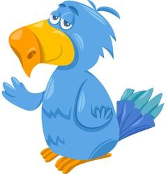 funny parrot cartoon vector image vector image