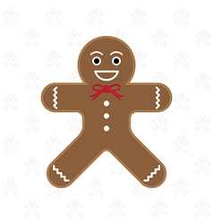 Gingerbread man vector image
