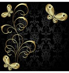 gold plant vector image