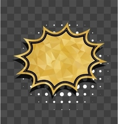Gold star sparkle comic text bubble vector