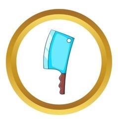 Kitchen axe icon vector