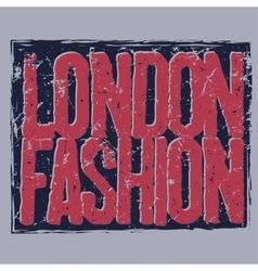 London city typography t-shirt vector
