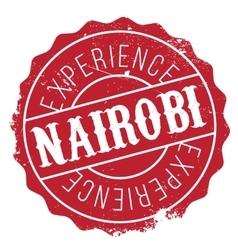 Nairobi stamp rubber grunge vector image vector image