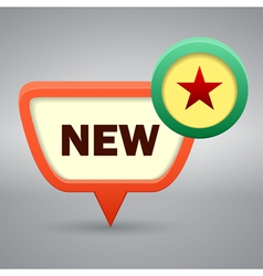 new seal with red star vector image vector image