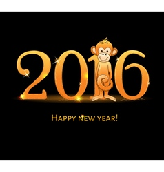 New Year card with monkey4 vector image vector image