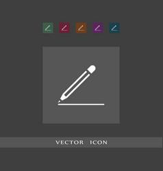 pencil icon simple vector image