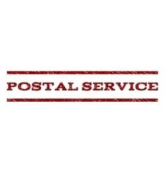 Postal service watermark stamp vector
