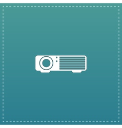 Projector sign icon vector