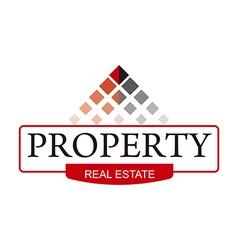 Real estate home building symbol vector