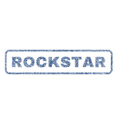 rockstar textile stamp vector image vector image