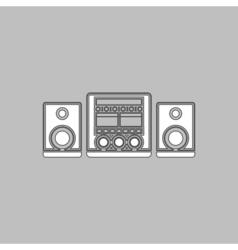 Sound System computer symbol vector image vector image