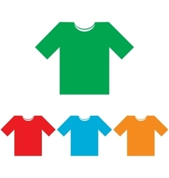 T-shirt sign colorfull set vector