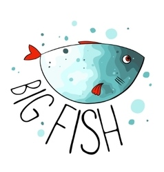 Turquoise fish vector