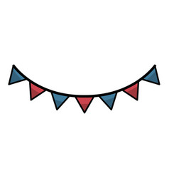 Usa garland isolated icon vector