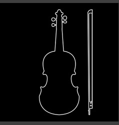 violin the white path icon vector image vector image