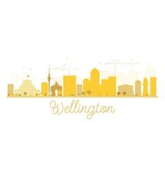 Wellington city skyline golden silhouette vector