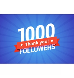 1000 followers vector image
