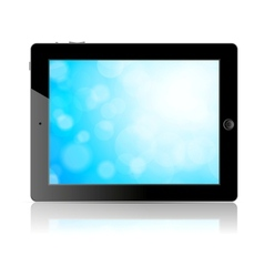 Tablet pc with blue screen vector