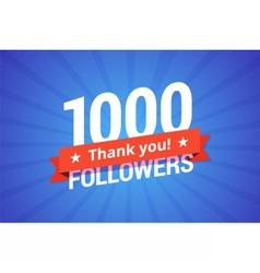 1000 followers vector
