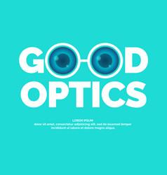 Modern logo good optics vector