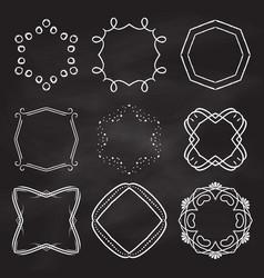 decorative frames on chalkboard background vector image