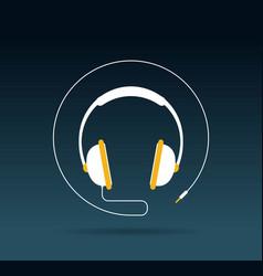 Audio headphone icon vector