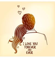 loving couple vector image