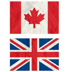 England and canadian flag vector