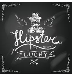 Sketch hipster background vector