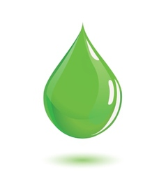 Green drop of poison or chemical vector image