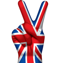 British victory sign vector