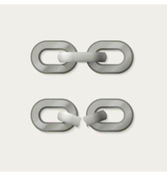 Link set metal chain vector