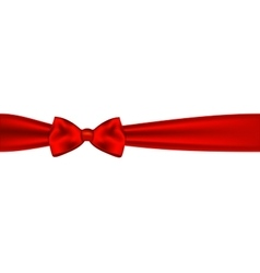 Red bow on white background vector image