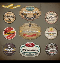 Vintage and retro labels vector