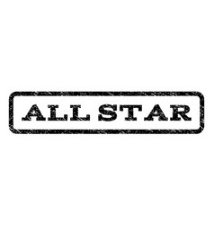 All star watermark stamp vector