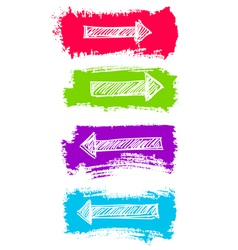 Arrows and Grunge Color Brush Set vector image