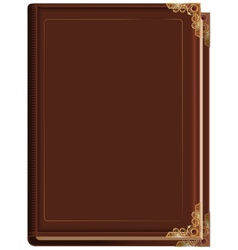 Brown closed book vector