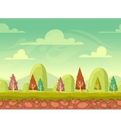 Cartoon seamless nature background vector
