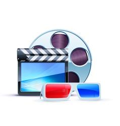 cinema 3d elements vector image
