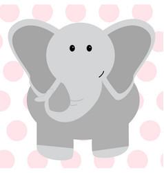 cute elephant - vector image