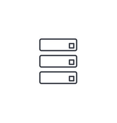 data center server thin line icon linear vector image