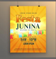 Festa junina carnival flyer poster design vector