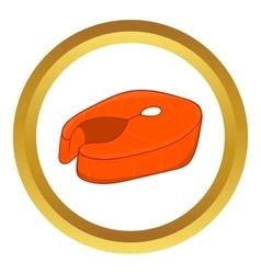 Fish fillet icon vector