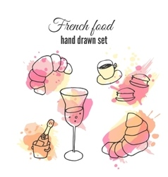 French food pastry and vector