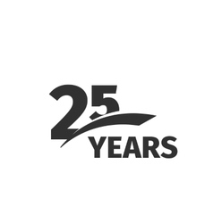Isolated abstract black 25th anniversary logo on vector image