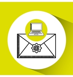 Laptop email concept technology message graphic vector