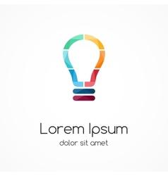 Light buble logo idea brainstorm vector