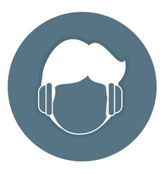 Man with headphones avatar character vector
