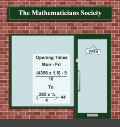 mathematicians society vector image vector image